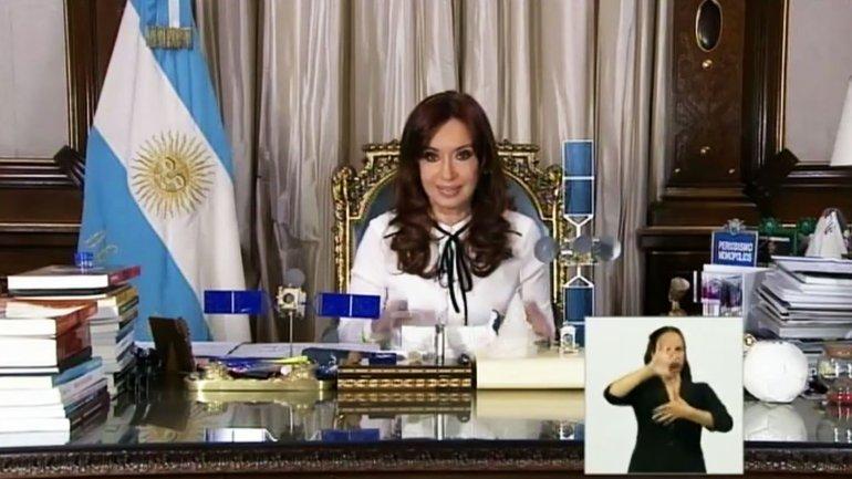 Presidenta Cristina Kirchner